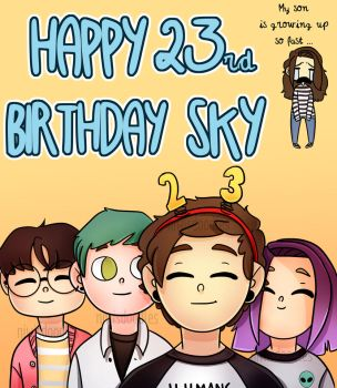 4/18 Sky's birthday (oc) 4 by Amnesia5sos
