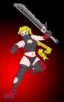 chainsaw babe by caz-divad