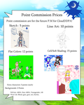 Point Commission price sheet by CloudDDPA