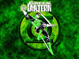 Hal - Green Lantern Flames by Superman8193