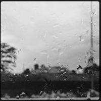 Rainscape through the Window of a Bus by Eonity