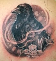 Crow tattoo by jesserix