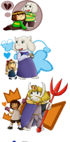 [Undertale] Monsters and Humans by poi-rozen