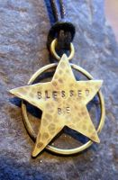 Blessed Be Brass Pentacle by MoonLitCreations