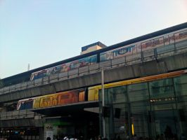 Skytrains, Bangkok by dpt56