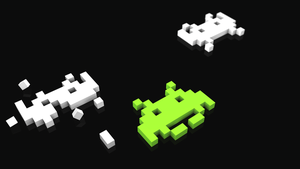 Space invaders wallpaper by krunchh