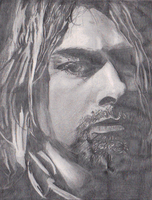 kurt cobain pencil drawing by SCRUBZLOTUS