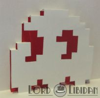 Pop Up Card Pacman Ghost by LordLibidan