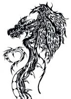 Tribal Dragon and H3art by Crazypepe
