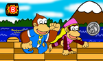 Dixie Kong and Kiddy Kong by MarioSimpson1