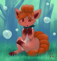 Bubbly Forest by honrupi