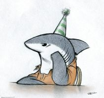 Birthday Shark by RobtheDoodler