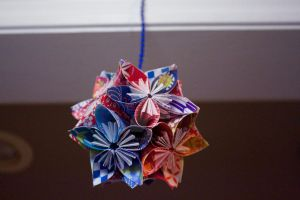 Hanging Flower Ball 3 by VickyDevart