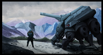 Tank and Soldier by JackWDowell
