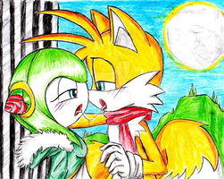 tails and cosmo sexy kiss by erosmilestailsprower