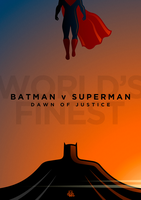 Batman v Superman Poster by mightybeaver