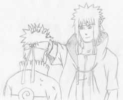 Naruto And His Dad by melia161