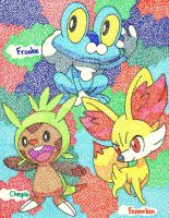 Kalos Starters by Macuarrorro