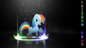 [Flame Ring Series] - Rainbow Dash 1920x1080 by forgotten5p1rit