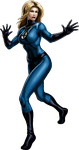 Invisible Woman Portrait Art by cptcommunist