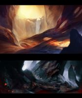 Environment sketches by Vetrova