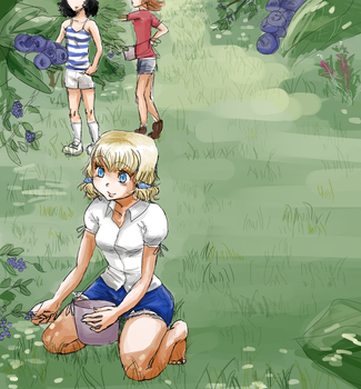 Blueberry Picking by liltrix7