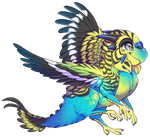 If birds were dragons... Budgie by Kiwibon
