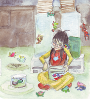 Breeding Frogs by Zalein