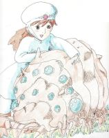 Nausicaa and the Ohmu by Kelly-ART