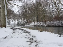 Canal du midi under the snow VI by fairling-stock