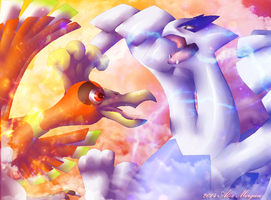 Ho-Oh Versus Lugia by Parastatic