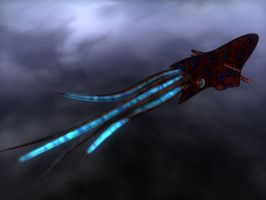 The Dreaded Flying Squid by Drakirath