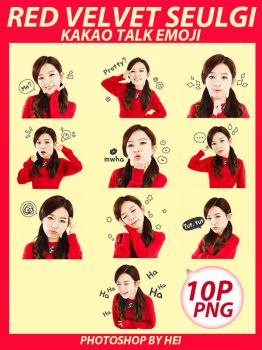 Red Velvet seulgi kakao talk emoji png pack by hyukhee05