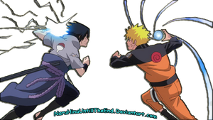sasuke vs naruto render by SakamakiJustine