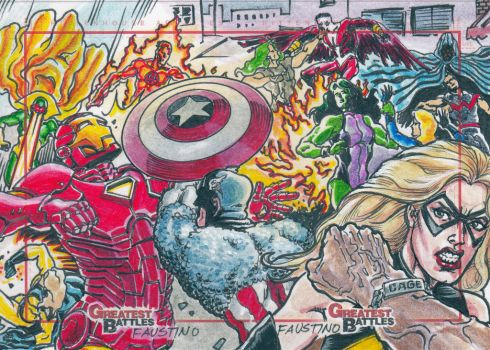Marvel Greatest Battles  - Rittenhouse archives by humawinghangin