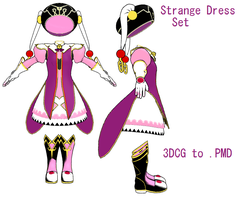 MMD- Strange Dress Set- DL by MMDFakewings18