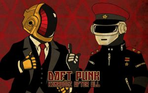 Daft Punk Propaganda Wallpaper by ediskrad-studios