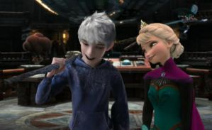 Conversation beetwen Jack and Elsa by InsaneHoneyBadger