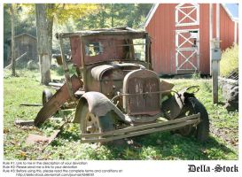 Broken Down Antique Car by Della-Stock