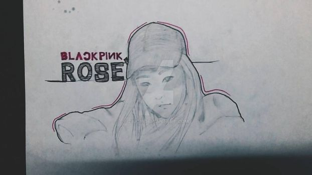 BLACK PINK Rose' fanart by Zaicy