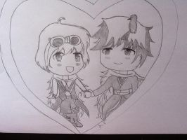 Chibi couple by MegumiHeart