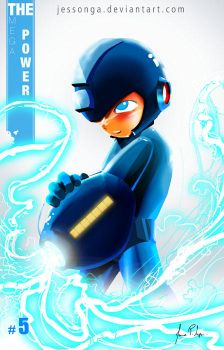 Colection Card #5 Megaman - The Blue Hero by Jessonga
