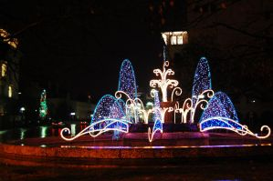 Christmas fountain by Adsarta