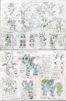 Foals And Practice sheet! by Nobodyspatzy