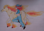florence and rapidash by Evil-Alice8