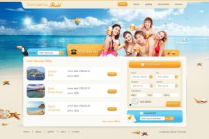 travel agency layout by davidpstone