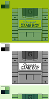 Super Game Boy: 4 Color Palettes by BLUEamnesiac