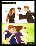Ron and Hermione: irony by AshyMashy