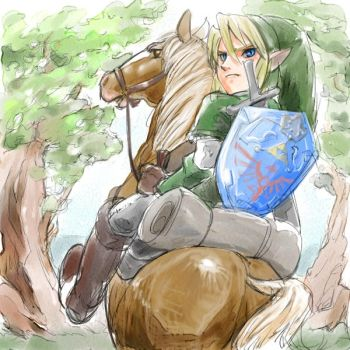 Link and Epona by manaita