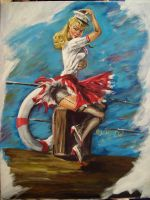 pin-up girl by cliford417